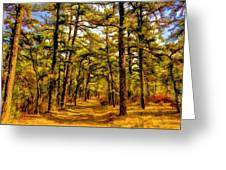 Whitebog Village Woods In New Jersey  Greeting Card