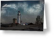 Whitefish Point Lighthouse Lake Superior Greeting Card