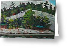 Whitefish River Cottages Greeting Card