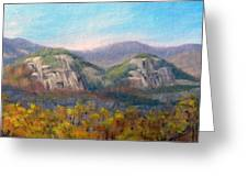 Whitehorse And Cathedral Ledges From The Red Jacket Inn Greeting Card