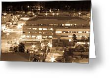 Whitehorse Downtown At Night Greeting Card