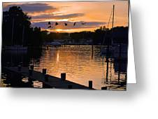 White's Cove Silhouette Greeting Card