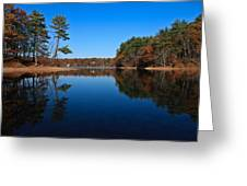 Whites Pond Greeting Card by Corey Sheehan
