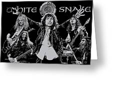Whitesnake No.01 Greeting Card by Caio Caldas