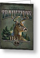 Whitetail Deer Traditions Greeting Card