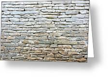 Whitewash Old Stone Wall Greeting Card