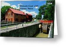 Whitewater Canal Locks Greeting Card