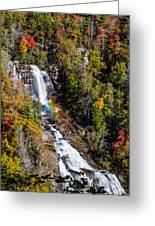 Whitewater Falls With Rainbow Greeting Card
