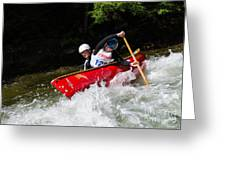 Whitewater Open Canoe Race Greeting Card