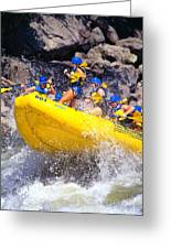 Whitewater Thrill Ride Greeting Card by Thomas R Fletcher