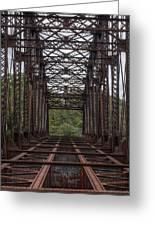 Whitford Railway Truss Bridge Greeting Card