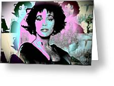 Whitney Houston Sing For Me Again Greeting Card