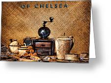 Whittard Of Chelsea Tea Coffee And Drawings Greeting Card