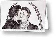 Elvis Who Loves Ya Baby? Greeting Card