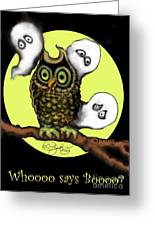 Who Says Boo Greeting Card