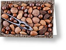 Whole Nuts In A Basket Greeting Card