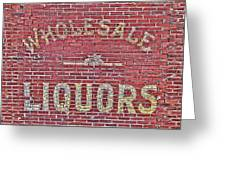 Wholesale Liquors Greeting Card