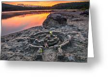 Whonnock Lake Sand Castle Greeting Card