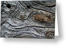 Whorls Of Wood Greeting Card