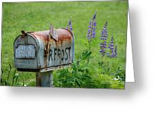 Whose Mailbox This Is I Think I Know Greeting Card