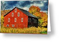 Why Do They Paint Barns Red? Greeting Card