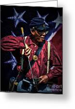 Wi Colored Infantry Sharpshooter - Oil Greeting Card