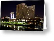 Wichita Hyatt Along The Arkansas River Greeting Card
