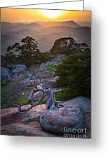 Wichita Mountains Sunset Greeting Card