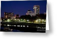 Wichita Skyline At Dusk Greeting Card