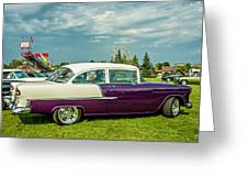Wicked 1955 Chevy Profile Greeting Card