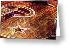 Wicked Music Digital Guitar Art By Steven Langston Greeting Card