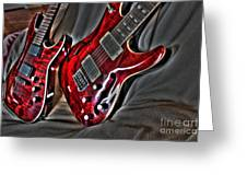 Wicked Relations Digital Guitar Art By Steven Langston Greeting Card by Steven Lebron Langston