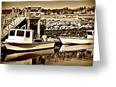 Wickford Marina Greeting Card