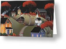 Wickford Village Halloween Ll Greeting Card