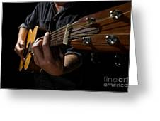 Wide Angle Guitar Greeting Card