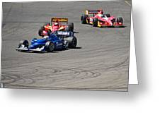 Wide In Turn 9 Greeting Card