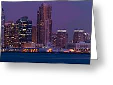 Wide Panoramic Of Scenic San Diego Greeting Card