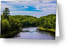 Wide River Greeting Card by Jason Brow