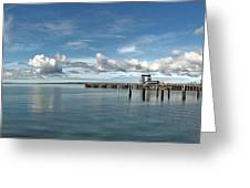Wide View Of Kingscote Bay Greeting Card
