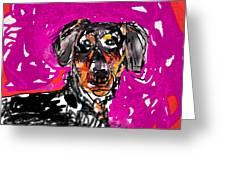 Wiener Dog Greeting Card