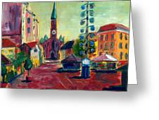 Wienerplatz Study Greeting Card