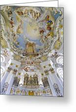 Wieskirche Organ And Ceiling Greeting Card