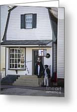 Wigmaker And Barber Shop Williamsburg Virginia Greeting Card
