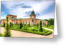 Wilanow Palace In Warsaw Poland Greeting Card