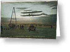 Wilbur Wright Rounds A Pylon Greeting Card