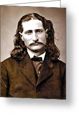Wild Bill Hickok Painterly Greeting Card by Daniel Hagerman