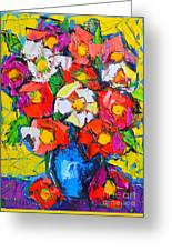Wild Colorful Flowers Greeting Card