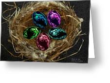 Wild Eggs In My Nest Greeting Card