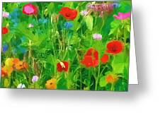 Wild Flower Meadow Greeting Card