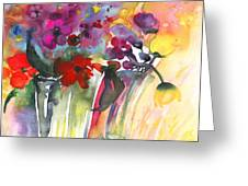 Wild Flowers Bouquets 02 Greeting Card